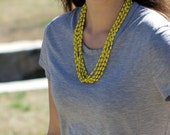 DOREEN-*more colors*- Thin Multi Strand Solid Color Ugandan Recycled Paper Bead Necklace- Spring Colors