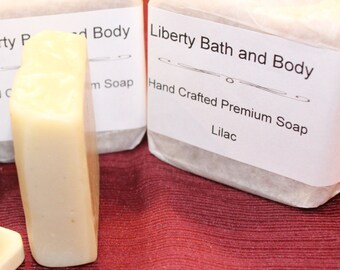 Lilac Soap, Cocoa Butter Soap, Floral Scent Bar Soap, Handmade Soap, Botanical Soap Feminine Soap Handcrafted Soap Gardeners Soap Vegan Soap