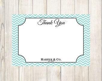 Tiffany's Baby Shower Thank You Card- Custom