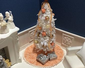 Dollhouse Miniature Shabby Chic Christmas Tree