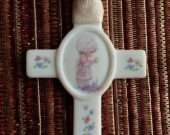 Precious Moments,Precious Moments Cross,Christian Art,Ceramic Cross,Cross Decor,Cross Collectible,Cross Gift,Precious Moments Gift