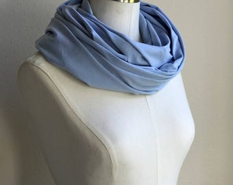 UPF 50 Infinity Scarf / Nursing Cover with UVA & UVB sun protection / Lightweight Stretch Infinity Scarf / Heather Blue Scarf / Erica