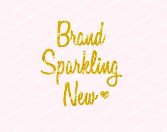 Brand Sparkling New Iron on, Non-Shed Glitter, Brand New, Gold, Gold Glitter, DIY, Baby Girl, Newborn, Iron On, NOT DIGITAL, Iron-On Decal