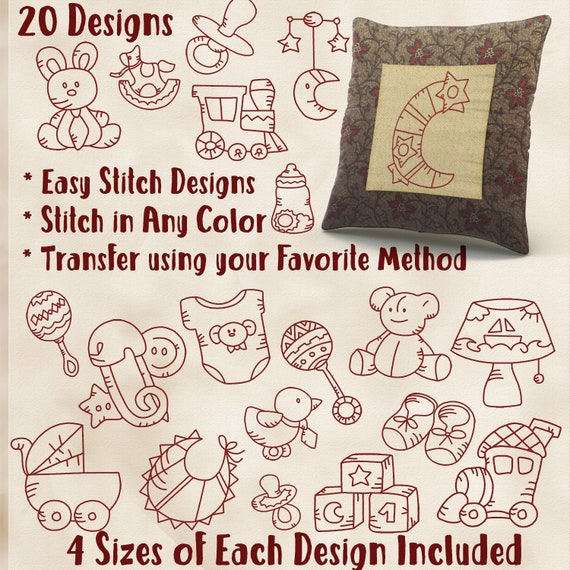 Sale hand embroidery patterns baby things in sizes pdf