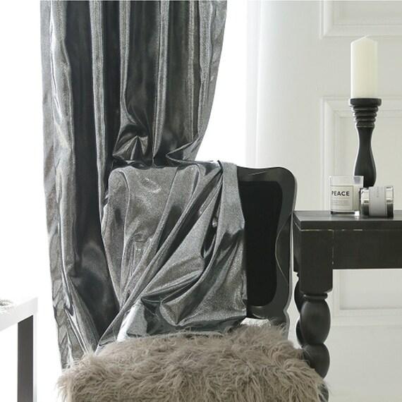 Atemberaubende Dekorative Gardinen Fassadenelement Silber Metallic Blackout Fr Wohnzimmer Und Schlafzimmer Individuell Personalisierte Vorhnge