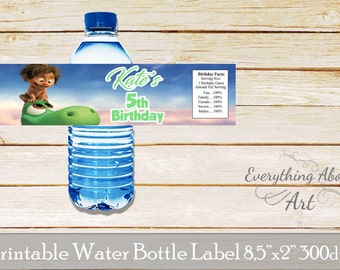 The Good Dinosaur water bottle label, Printable labels, The Good Dinosaur water bottle wraps, The Good Dinosaur birthday party