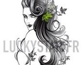 Poison Ivy / Impression / Idée cadeau original / Anniversaire / Art / Tableau / Noel / Affiche / Décoration maison / Dessin