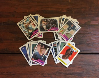 Complete Cleveland Indians 1989 Topps Team Set/ World Series/ 29 Total MLB Baseball Cards/ Near Mint Condition!!!