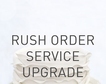 RUSH Order Service UPGRADE_CAKE TOPPER_1/2 working days