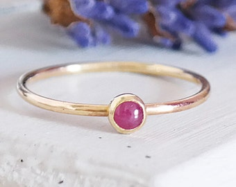 Ruby Ring, Solid Gold Ruby Ring, Stacking Ring, Gemstone Ring, Ruby Birthstone, Ruby Stacking Ring, Gold Stacking Ring, 9ct Gold Band
