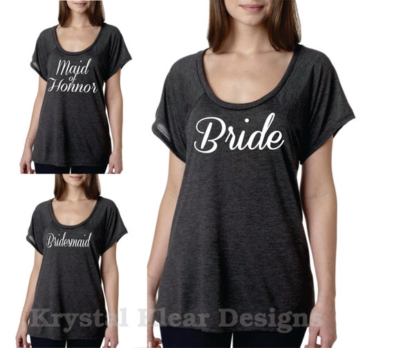 Items similar to bride shirt maid of honnor shirt for Selling shirts on etsy