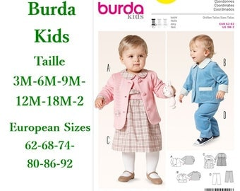 Burda, 9422, Coordinates, semi-fitted, 3m to 2, 4 models, new, uncut, never used
