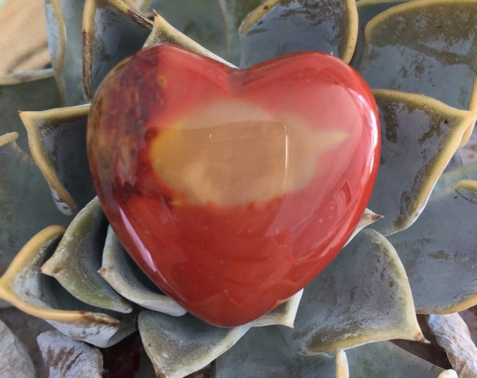 Red Mookaite Heart infused w/Reiki