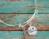 Godmother Bracelet, Godmother Gifts, God Mother Bangle, Baptism Gift for Godparent, Best Godmother Gift, 602019