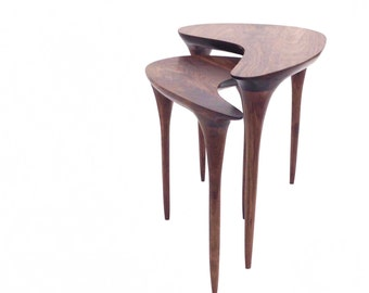 nesting tables modern nesting tables mid century table mid century side table