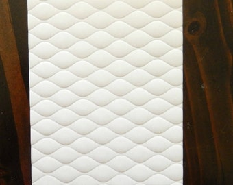 Wavy Quilted Embossed Cardstock, Embossed Sheets, Embossed Card Fronts