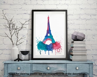 Eiffel Tower, Paris Watercolor Painting, Original Illustration, Travel Architecture Illustrator, City art, Christmas Holiday Gift