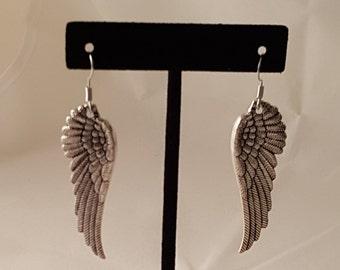 Angel Wing Earrings - Angel Earrings - Wing Earrings - Feather Earrings - Wing Jewelry - Angel Jewelry - Angel Wing - Angel - Wing - Earring