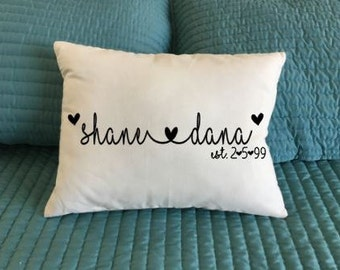 Personalized Pillow, Love pillow, Custom 12x16 pillow, Wedding gift, Anniversary gift, Pillow cover with insert, Mother's Day,