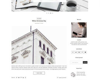 Blogger Template - Responsive Blogger Theme - Premade Minimalist template - Slider Photography Fashion - Slide Show - Theme Blogspot