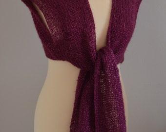 Knit Plum Purple Bolero Waistcoat