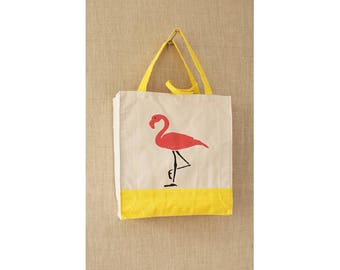 Pink Flamingo,  Beach Bag, Tote Bag, Shopping Bag, Eco Friendly Bag
