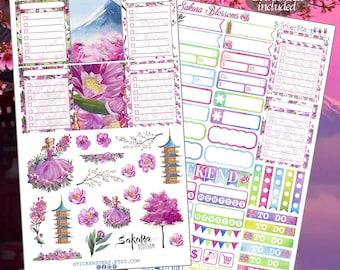 Sakura Blossoms  Planner Stickers