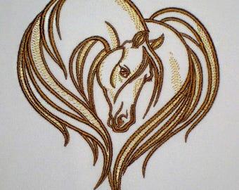 Machine embroidery design Horse_1 -  horse  embroidery - horse - horse stylized - embroidery horse