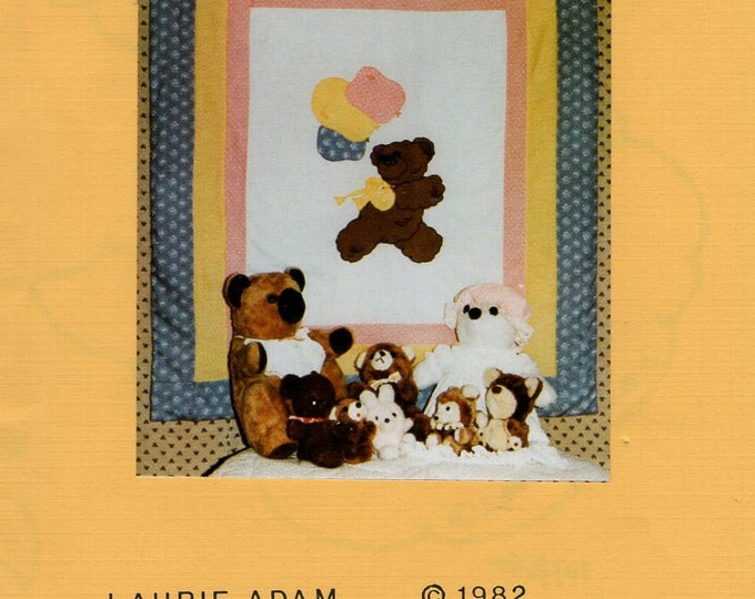 Free Usa Shipping Craft Sewing Pattern Quilt Dugan's Rainbow Happy Day Bear Balloon Designer Laurie Adam New 1982 Retro