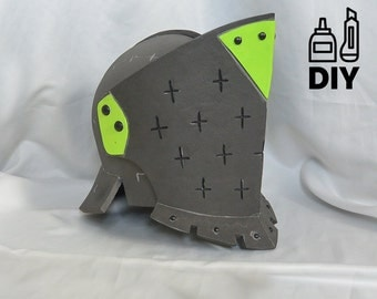 diy knight helmet template for eva foam version a from mellowmindcosplay on etsy studio. Black Bedroom Furniture Sets. Home Design Ideas