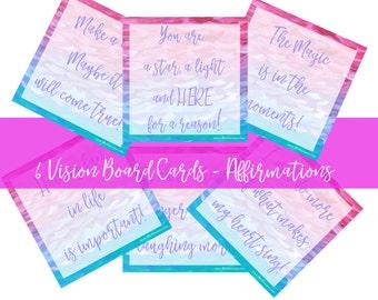 Affirmation - positive affirmations - affirmation cards - daily affirmations - positive affirmations for women - Vision Board cards - notes