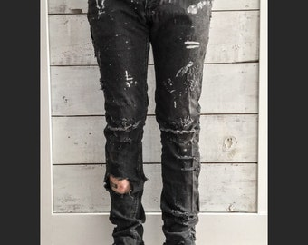Post apocalyptic jeans - Distressed jeans - Mad max jeans