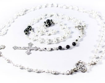 Swarovski Wedding Rosary Set - Customizable