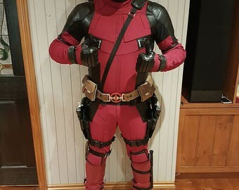 Deadpool Cosplay / Costume Suit (Replica) :Made From Custom Dyed 4 Way Patterned Stretch