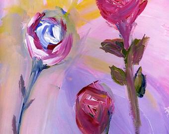 3 Roses Print