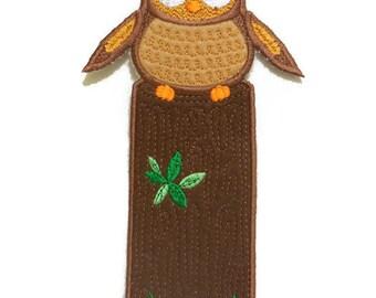 Embroidered Felt Owl Bookmark, Felt Owl, Owl Book Hugger, Felt Book Hugger, Book Accessory, Reading Accessory, Bookmark for Kids, Gift
