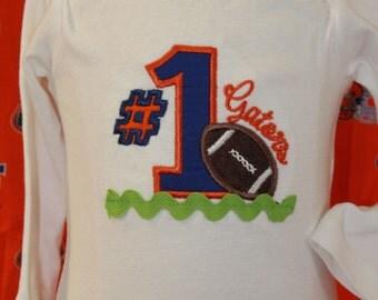 Gator boy bodysuit,Baby Gator football shirt,UF, University of Florida, Florida Gators,Gator football bodysuit,New baby gift,Football shirt
