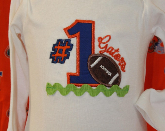 Gator boy bodysuit,Baby Gator football shirt,UF, University of Florida, Florida Gators,Gator football bodysuit,New baby gift,Football shirt