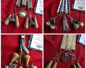 MWC-0027 - Georgian Watch Strings, Watch Fobs, Watch Chains, Pocket Watch Chains, Regency Watch Chain
