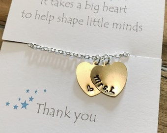 Teacher gift, teacher bracelet, bracelet, teacher appreciation gift, Teacher thank you gift, personalised thank you gift, thank you teacher