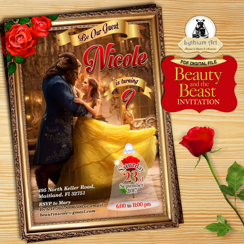 Princess belle party Etsy