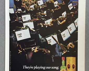 1980 J&B Scotch Whisky Print Ad - Orchestra