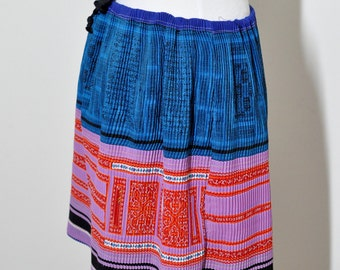traditional HMONG style handmade skirt, pre-owned, ladies, free size