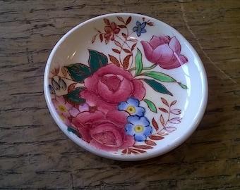 Maling Pin Dish - Rosalind Pattern Newcastle Pottery