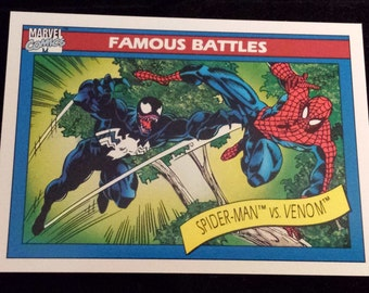 Spider-Man vs Venom #106 - 1990 Marvel Universe Series 1 Base Trading Card