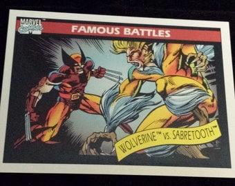 Wolverine vs. Sabretooth #119 - 1990 Marvel Universe Series 1 Base Trading Card