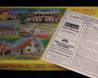 Vintage 1982 Limited Edition All About Town - The Game of Lancaster County
