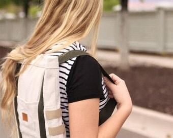 Canvas Backpack/Laptop Bag, Handmade backpack - Natural Canvas