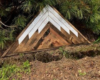 Rustic Wood Triangle Mountain Wall Art
