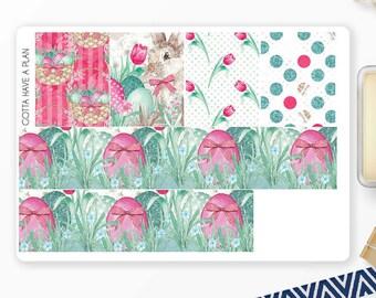 Planner Stickers Easter Basket Washi for Erin Condren, Happy Planner, Filofax, Scrapbooking